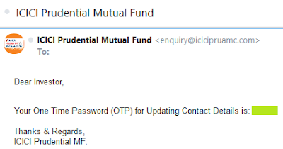 ICICI MF-Update Contact Details