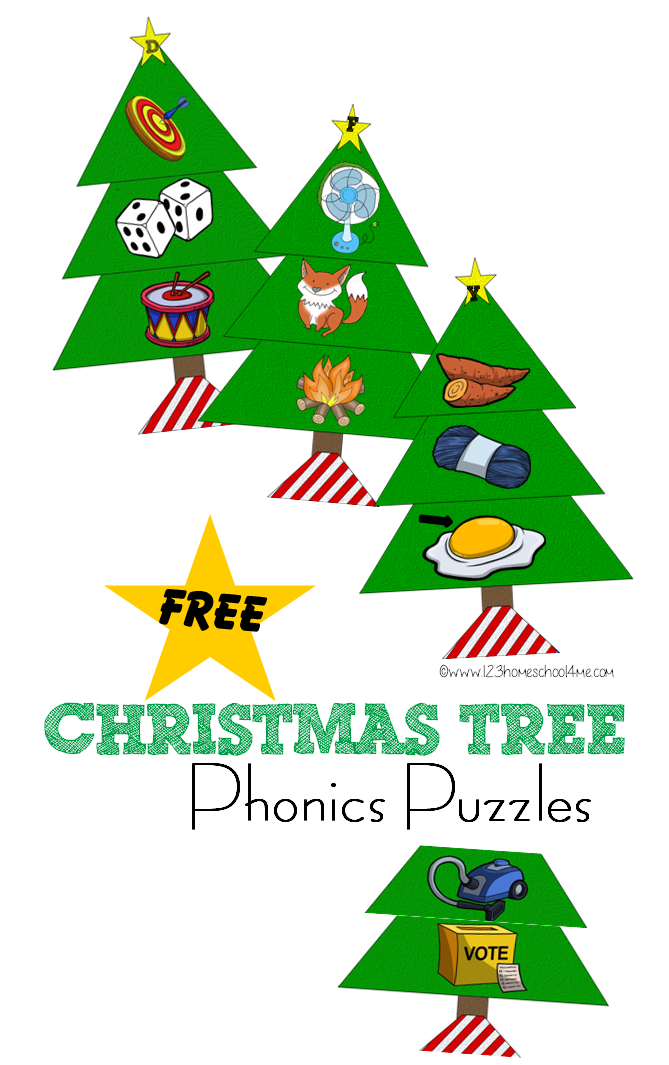 free christmas tree phonics puzzles this printable alphabet game for toddlers preschool kindergarten - Christmas Puzzles Free