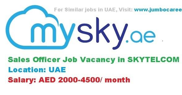 Sales Officer Jobs in UAE Telcom Sector
