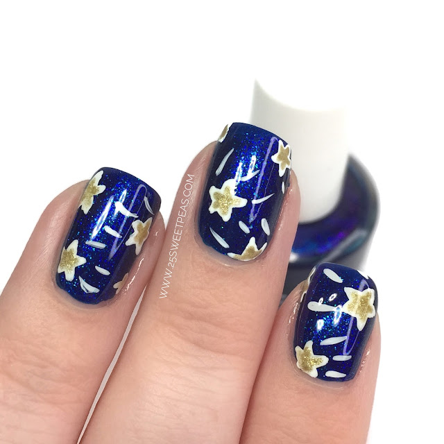 Shooting Star Nail Art