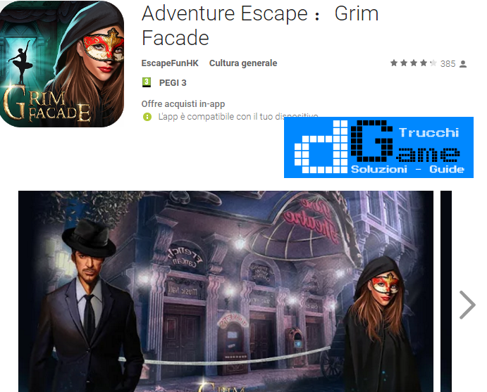 Soluzioni Adventure Escape Grim Facade livello 11 12 13 14 15 16 17 18 19 20 | Trucchi e  Walkthrough level
