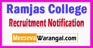 Ramjas College Recruitment Notification 2017 Last Date 19-08-2017