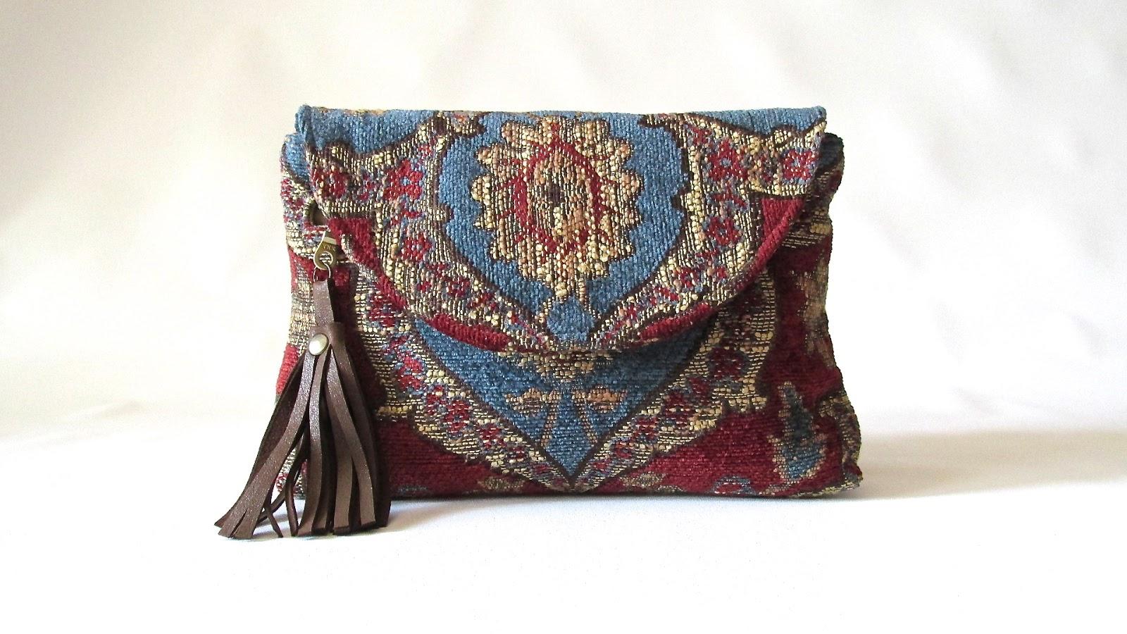 Laboratory Of Fashion Boho Tapestry Bag Clutch Purse