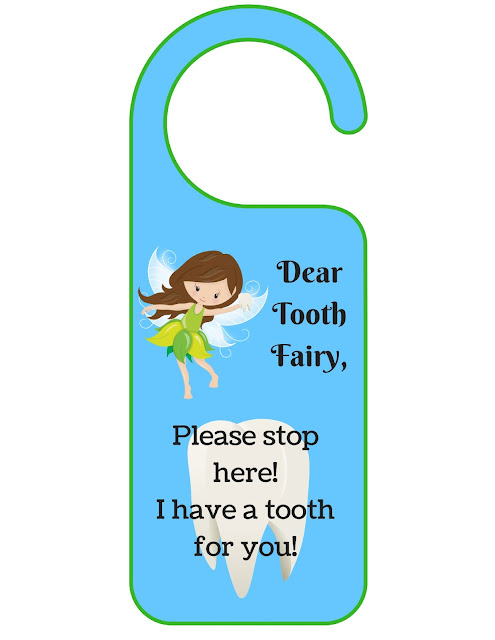 Printable PDF Tooth Fairy Door Knocker