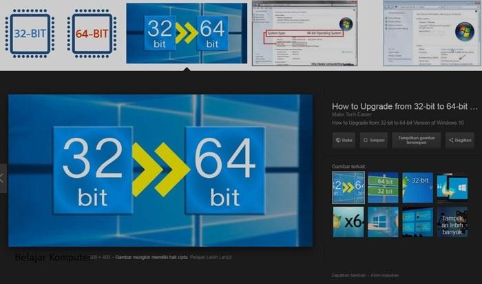 perbedaan 64bit dan 32 bit