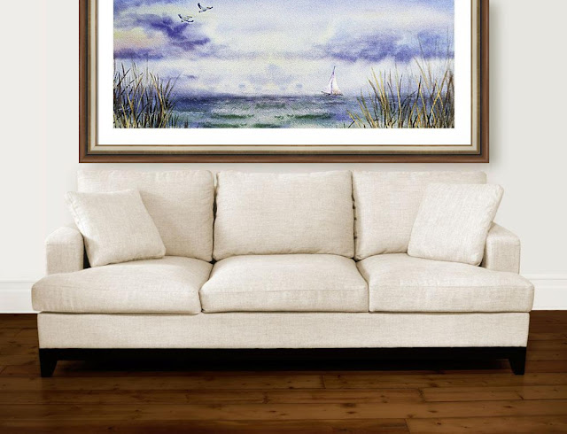 watercolor interior decor