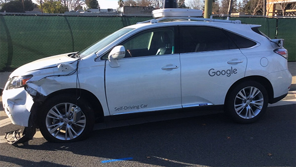 Il video dell'incidente della Google Car
