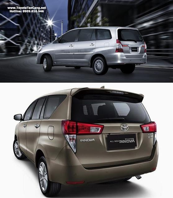 toyota innova 2016 innova 2015 duoi xe - Mua xe Toyota Innova 2016 hoàn toàn mới hay 2015 ? - Muaxegiatot.vn