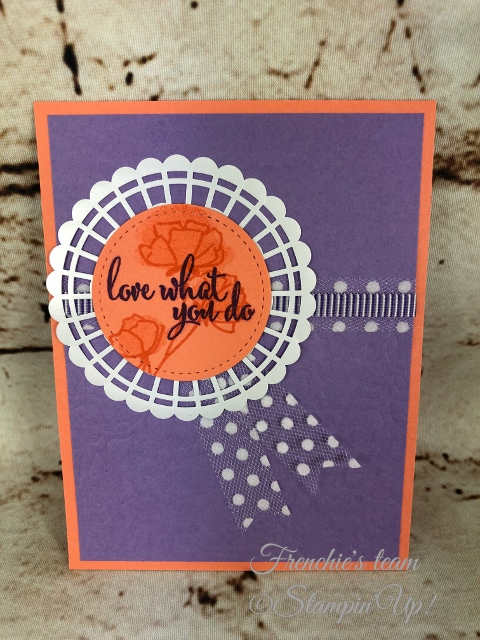 Love what You Do, Frenchie' Team, Stampin'Up!, New release stamp set in the Annual catalog,