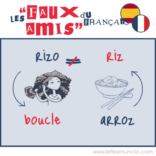 les faux amis du français, riz, rizo, vocabulaire, DELF B1, DELF B2, FLE, le FLE en un 'clic'