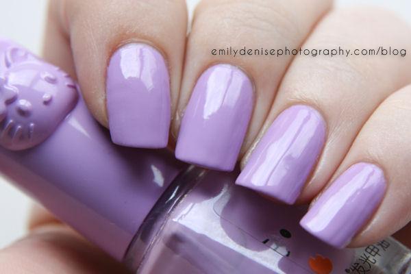 Square Purple Nails!