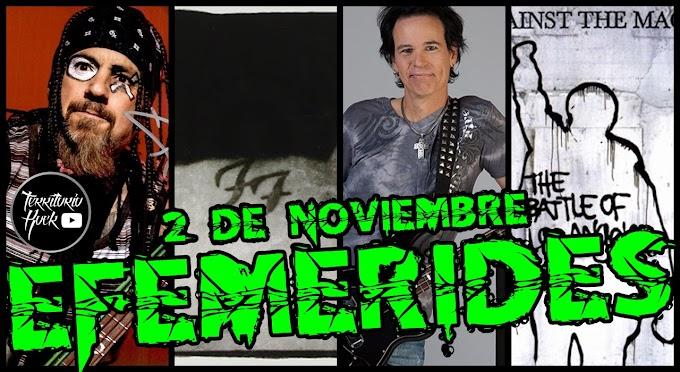 EFEMÉRIDES ROCK: 2 de Noviembre (video)