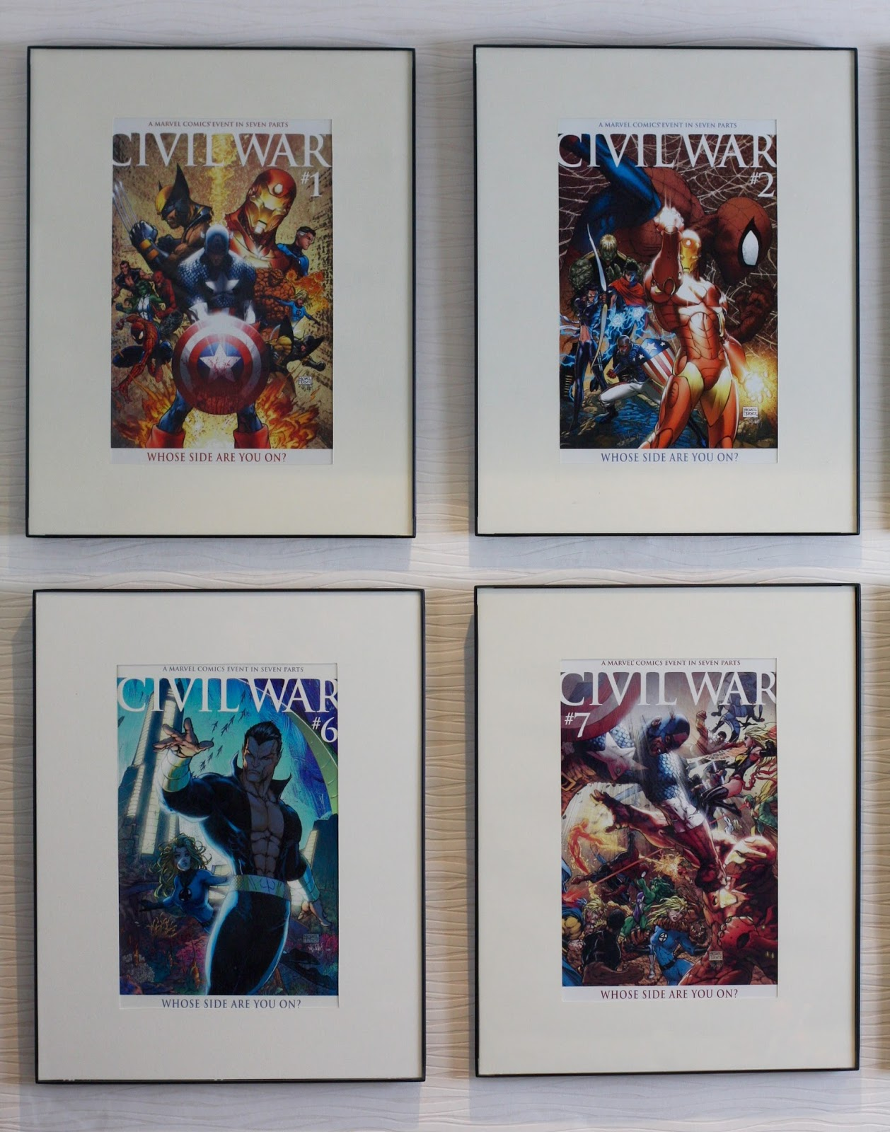 GEEK DIY BAM!: MARVEL COMIC BOOK FRAMES DISPLAY WALL DIY INSPIRATION
