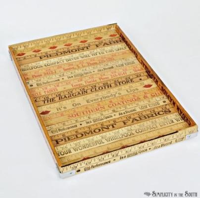 Nampan saji terbuat  dari penggaris kayu