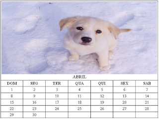 Calendário de Abril 2012