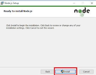 instal node js dan npm