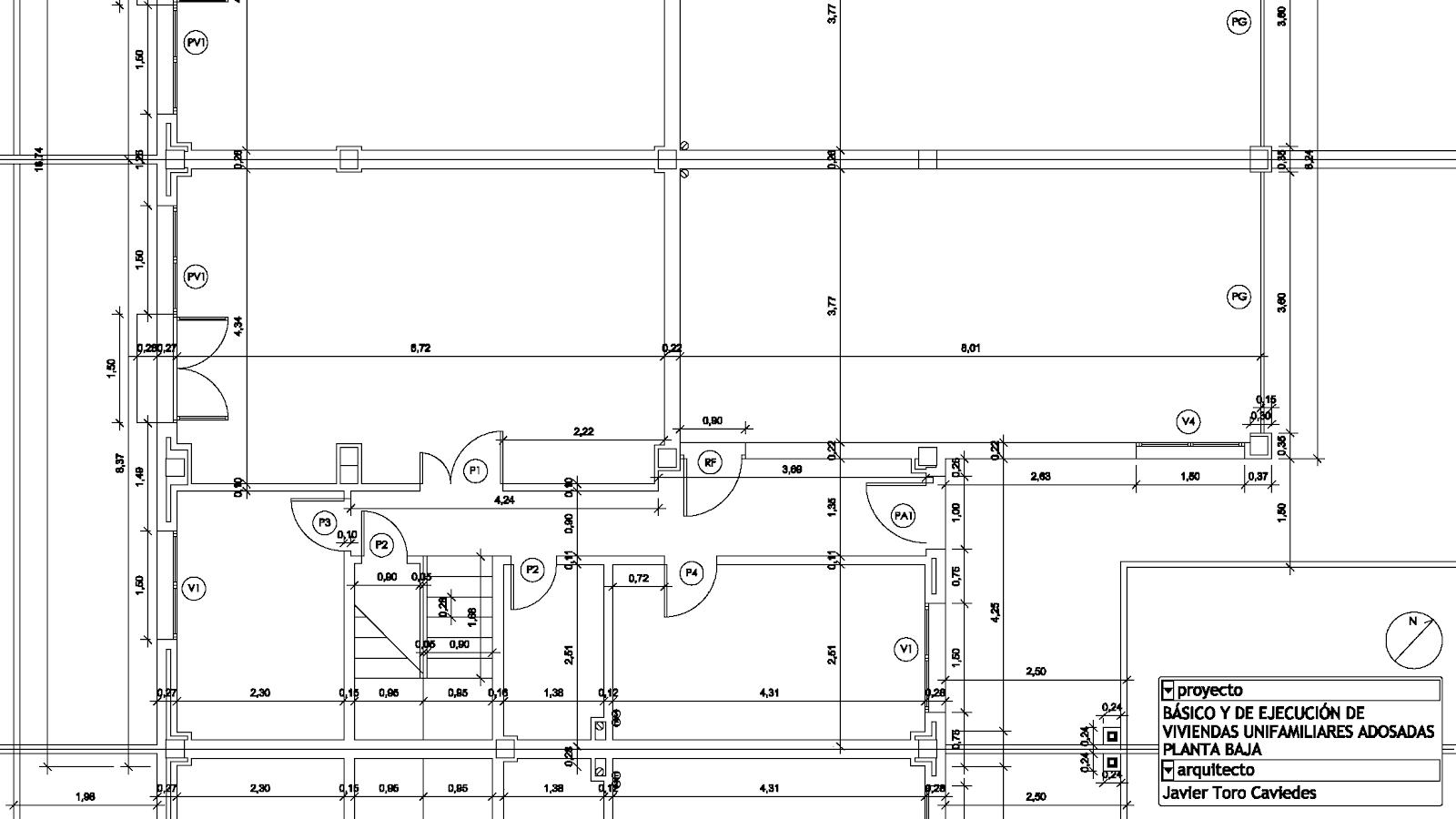 proyecto vivienda planta arquitecto valladolid