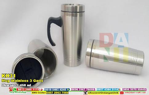 Mug Stainless 3 Garis