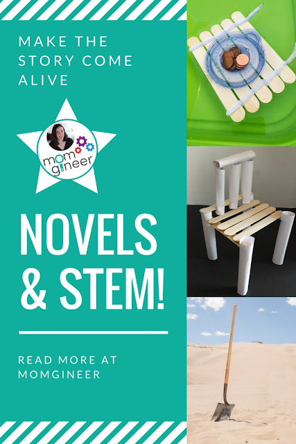 Novels and STEM - How you can try implementing a STEM challenge with your next read aloud or book club book. Ideas for popular read alouds for grades 2-5. | Meredith Anderson - Momgineer