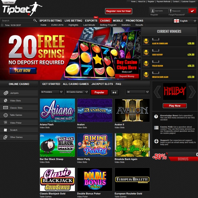 Tipbet Slots Screen