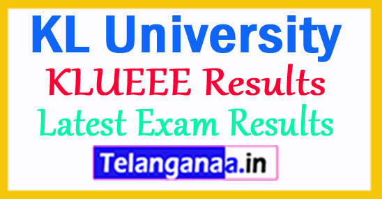 KLUEEE Results 2018 KL University Results 2018
