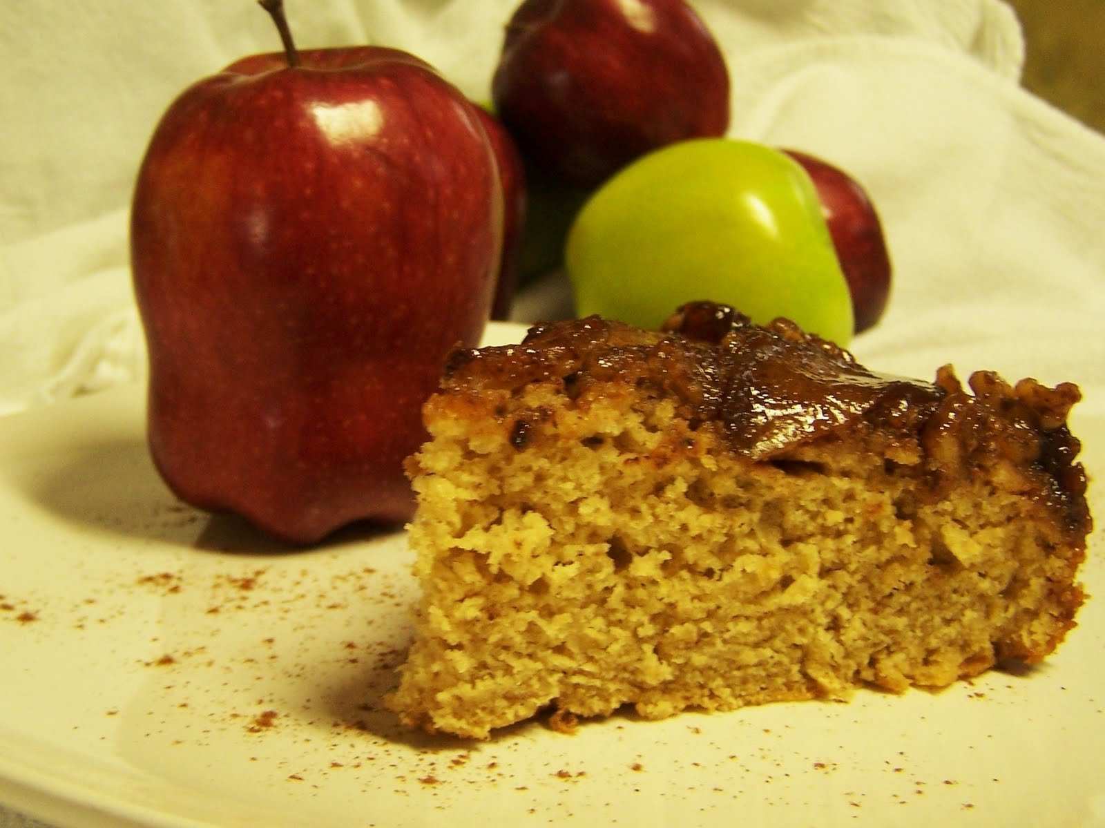 Upside Down Apple Cake With Pancake Mix