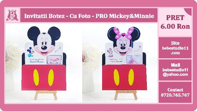 invitatii botez mickey-minnie mouse