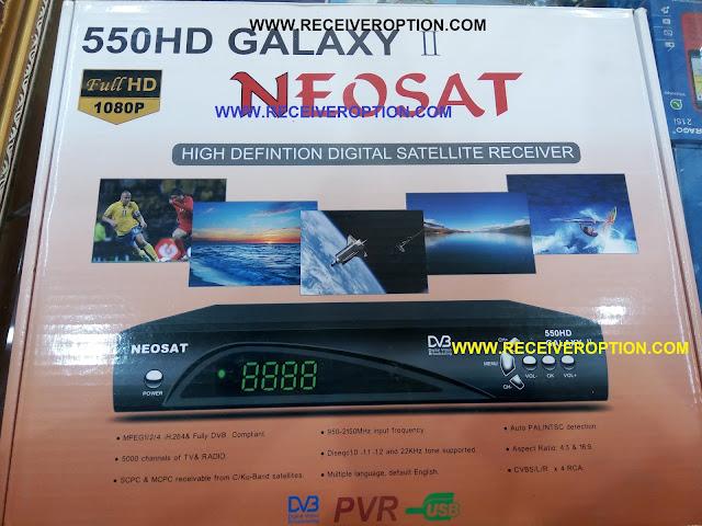NEOSAT 550HD GALAXY II RECEIVER FLASH FILE