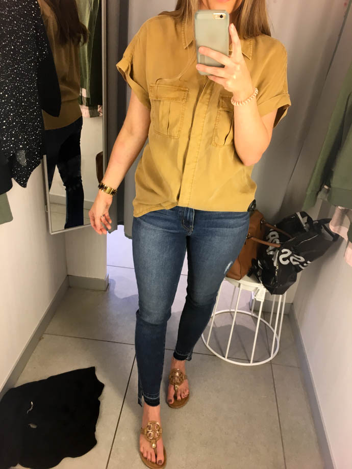 h&m lyocell utility shirt, fall outfit 2017, amanda sumner, the girlish blog, girl(ish), sc fashion blogger
