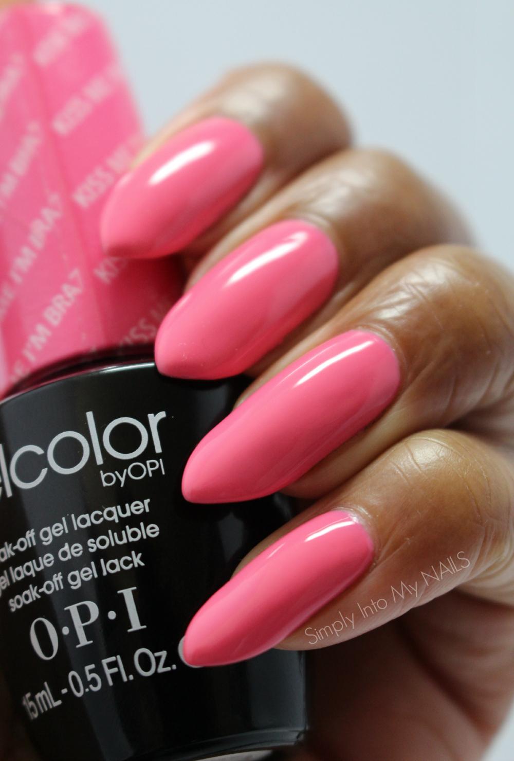 My Nail Polish Obsession My Birthday Nails: OPI Gelcolor Kiss Me I'm Brazilian