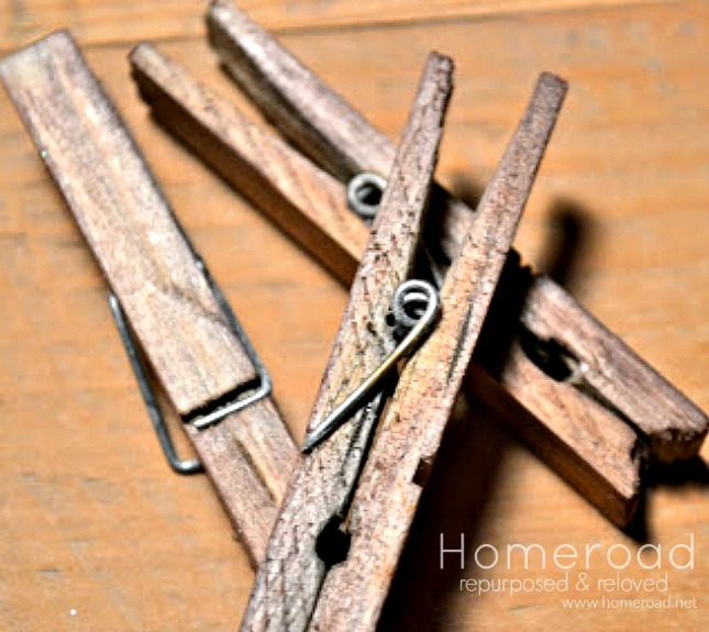 How to antique clothespins in minutes www.homeroad.net