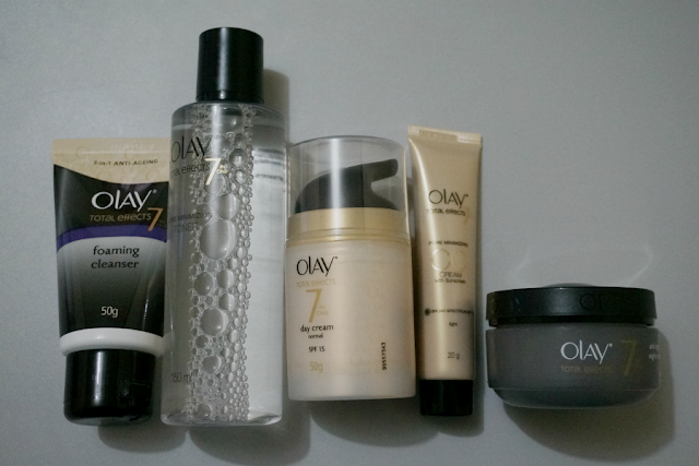Olay Total Effects: Cleanser, Toner, Day Cream, CC Cream and Night Cream