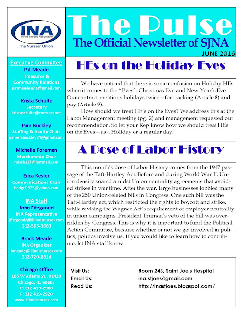 Union Newsletter June 2016