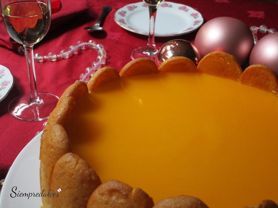 Carlota o Charlota de caquis y mandarinas (Siempredulces)
