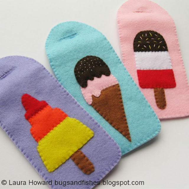 felt ice cream phone cases