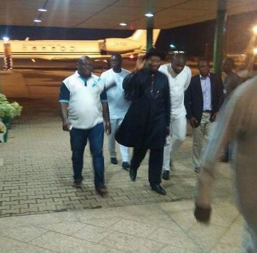 GEJ returns to Nigeria after Zambia election monitoring