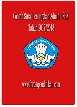Contoh Surat Penunjukan Admin USBN 2017/2018