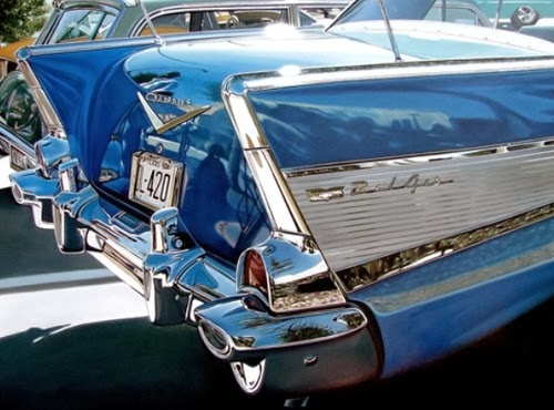 04-Blue-Bellaire-Cheryl-Kelley-Chrome-Muscle-Cars-Hyper-realistic-Paintings-www-designstack-co
