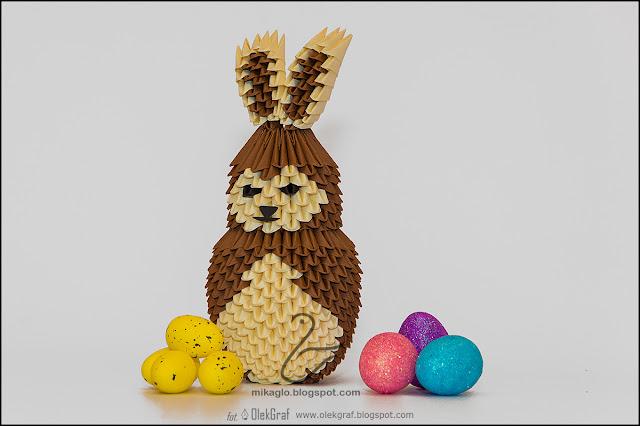 376. Zając Wielkanocny / 3d origami bunny