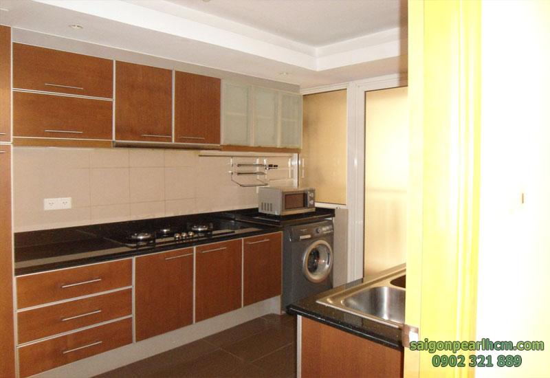 bếp căn hộ 136m2 tầng 3 thiết kế 3 phòng ngủ tại saigon pearl