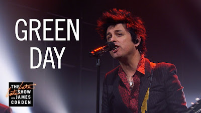 Take An Electrifying Musique Dose For Your Daily Playlist With Green Day Performing 'Oh Yeah!' On ' James Corden'