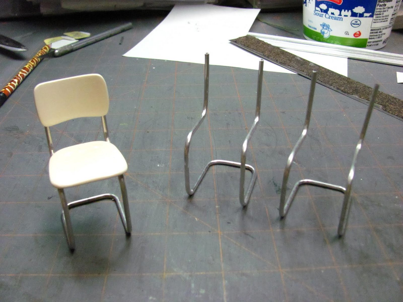 Aluminum Kitchen Chairs Wooden Cart Dollhouse Miniature Furniture Tutorials 1 Inch Minis