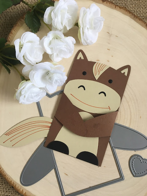 Make a Horse with Lawn Fawn Woodland Critter Huggers by Jess Crafts