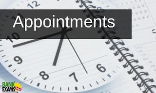 Appointments on 1st August 2020