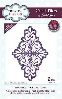 Creative Expressions Frames and Tags Collection Victoria Dies CED4335