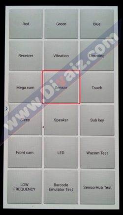 Cek sensor Samsung Galaxy - www.divaizz.com