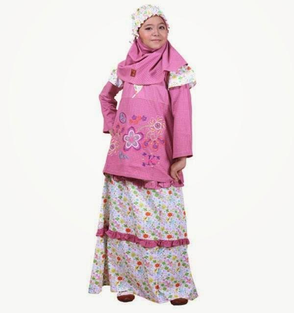 Baju muslim anak wanita usia 13 tahun untuk lebaran gaya Baju gamis anak usia 10 tahun