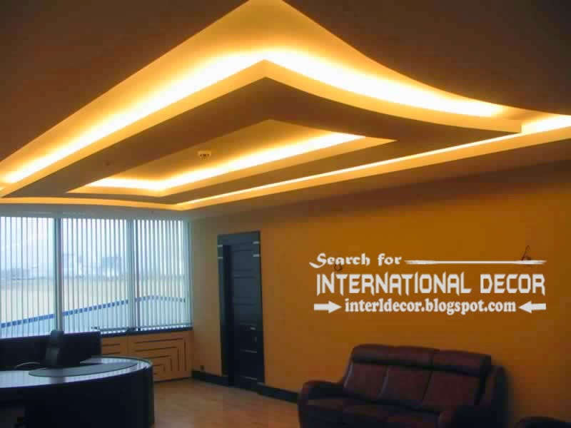 Modern drop ceiling designs with backlight