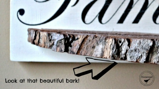 Repurposed DIY Tree Slice Bark Shelves