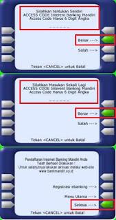 Cara Daftar Internet Banking Mandiri di ATM
